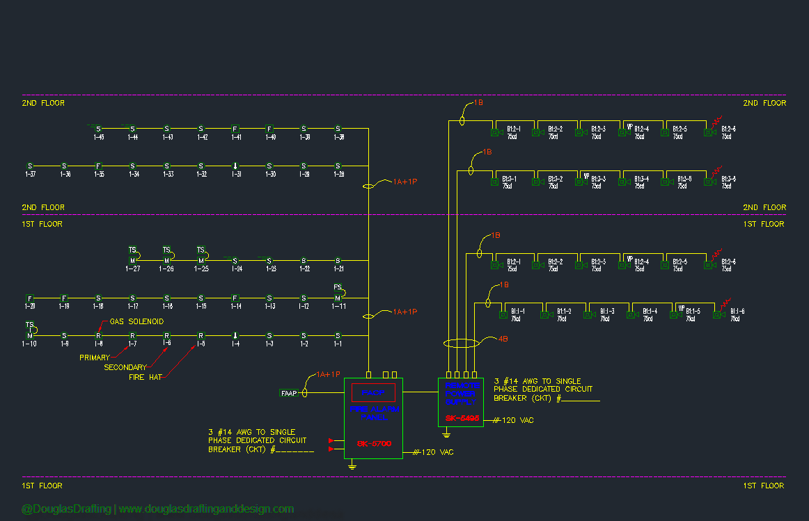 Fire Alarm Riser Diagram Wiring Third Level Smoke System Schematic Data Photocell Lighting Contactor